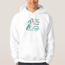 Angel 2 Ovarian Cancer Aunt Hoodie