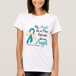 Angel 2 Ovarian Cancer Aunt T-Shirt