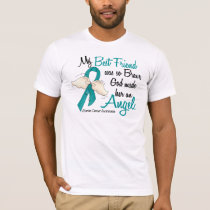 Angel 2 Ovarian Cancer Best Friend T-Shirt