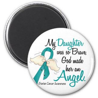 Angel 2 Ovarian Cancer Daughter Fridge Magnet