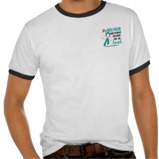 Angel 2 Ovarian Cancer Girlfriend T-shirt