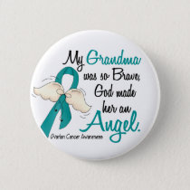 Angel 2 Ovarian Cancer Grandma Button