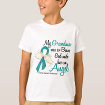 Angel 2 Ovarian Cancer Grandma T-Shirt