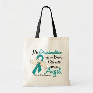 Angel 2 Ovarian Cancer Grandmother Budget Tote Bag
