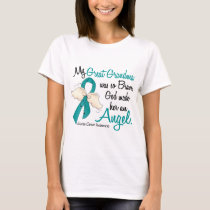 Angel 2 Ovarian Cancer Great Grandma T-Shirt