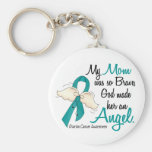 Angel 2 Ovarian Cancer Mom Key Chains