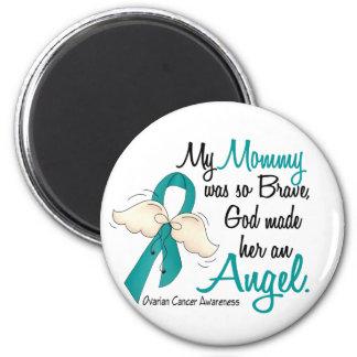 Angel 2 Ovarian Cancer Mommy Fridge Magnets