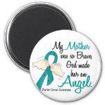 Angel 2 Ovarian Cancer Mother 2 Inch Round Magnet