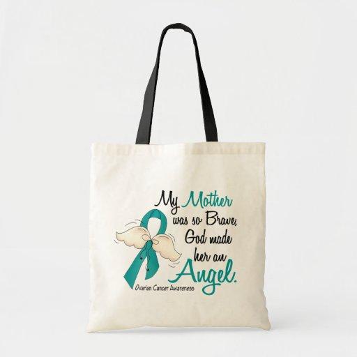 Angel 2 Ovarian Cancer Mother Budget Tote Bag