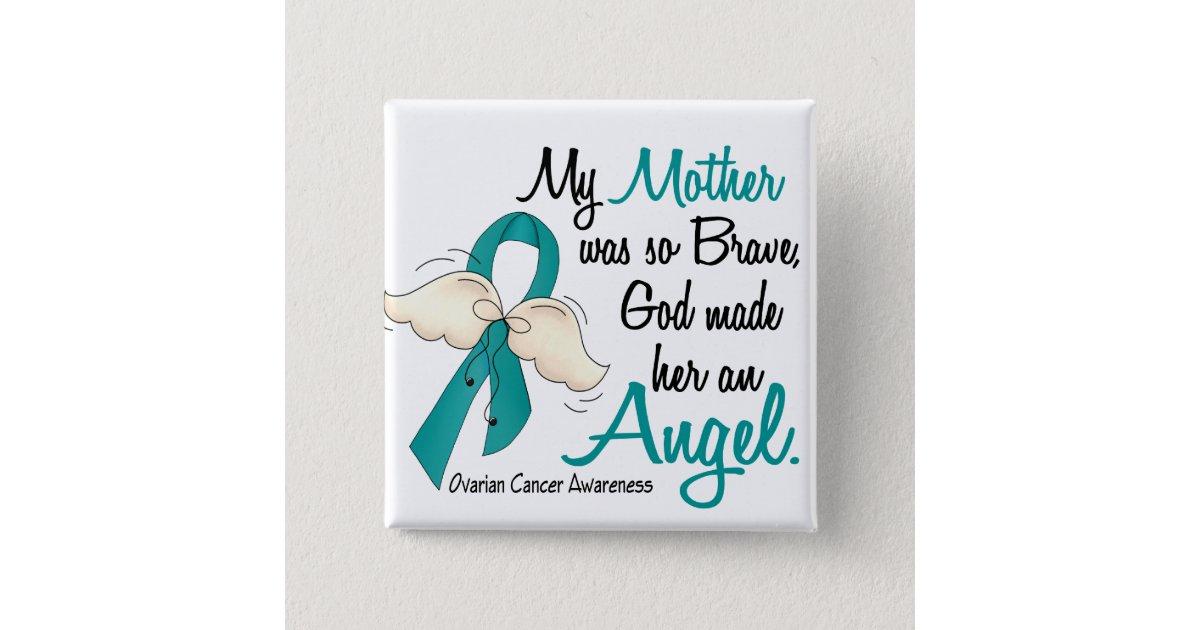 Angel 2 Ovarian Cancer Mother Button Zazzle Com