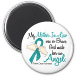 Angel 2 Ovarian Cancer Mother-In-Law Magnet