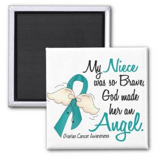 Angel 2 Ovarian Cancer Niece Refrigerator Magnet