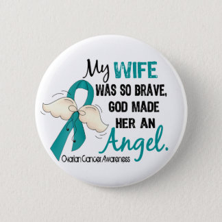 Angel 2 Ovarian Cancer Wife Button