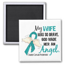 Angel 2 Ovarian Cancer Wife Magnet