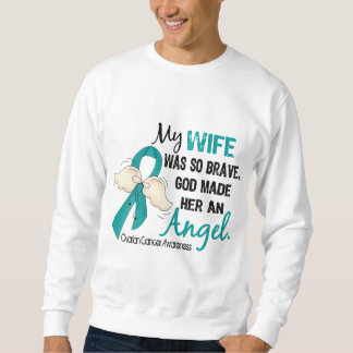 Angel 2 Ovarian Cancer Wife Sweatshirt