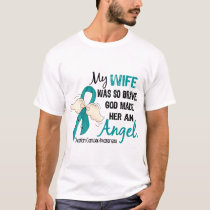 Angel 2 Ovarian Cancer Wife T-Shirt