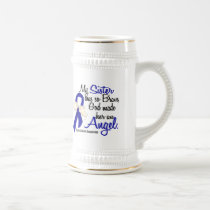 Angel 2 Sister Colon Cancer Beer Stein