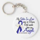 Angel 2 Sister-In-Law Colon Cancer Keychains