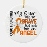 Angel 2 Sister Leukemia Ceramic Ornament