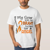 Angel 2 Sister Leukemia T-Shirt