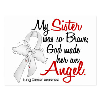 Angel 2 Sister Lung Cancer Postcard