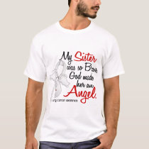 Angel 2 Sister Lung Cancer T-Shirt