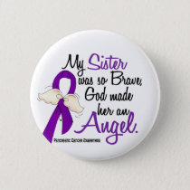 Angel 2 Sister Pancreatic Cancer Button