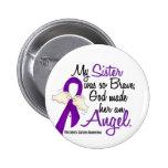 Angel 2 Sister Pancreatic Cancer Pin