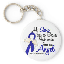 Angel 2 Son Colon Cancer Keychain