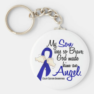 Angel 2 Son Colon Cancer Keychain