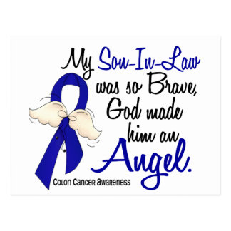 Angel 2 Son-In-Law Colon Cancer Postcards