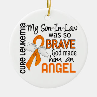 Angel 2 Son-In-Law Leukemia Christmas Ornament