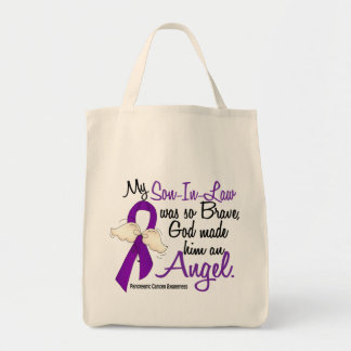 Angel 2 Son-In-Law Pancreatic Cancer Canvas Bag