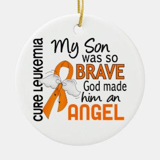 Angel 2 Son Leukemia Ceramic Ornament