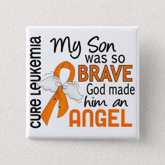 Angel 2 Son Leukemia Pinback Button