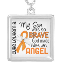 Angel 2 Son Leukemia Silver Plated Necklace
