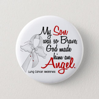 Angel 2 Son Lung Cancer Pinback Button
