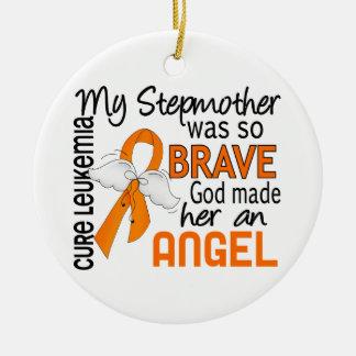 Angel 2 Stepmother Leukemia Christmas Ornament