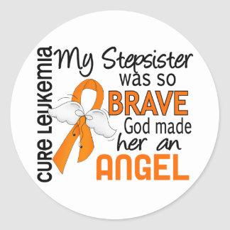 Angel 2 Stepsister Leukemia Classic Round Sticker