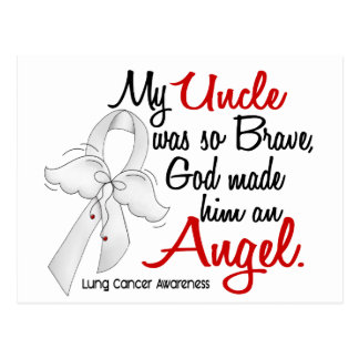 Angel 2 Uncle Lung Cancer Postcard