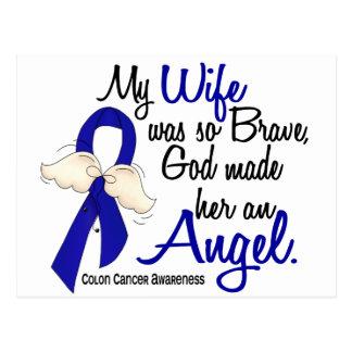Angel 2 Wife Colon Cancer Postcard