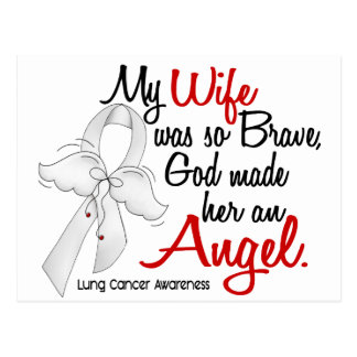 Angel 2 Wife Lung Cancer Postcard