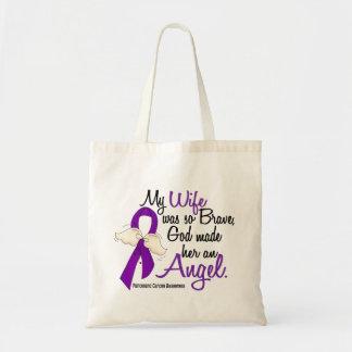 Angel 2 Wife Pancreatic Cancer Tote Bags