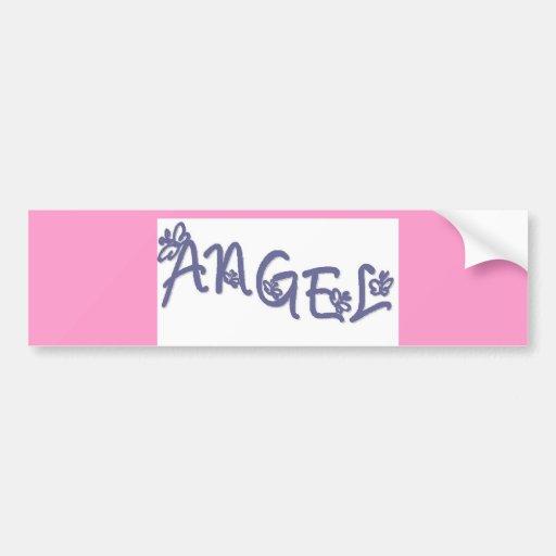 Ángel 3 etiqueta de parachoque