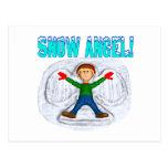 Ángel 3 de la nieve tarjeta postal