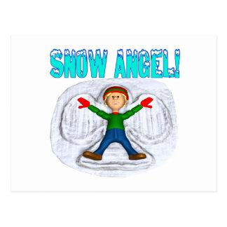 Ángel 3 de la nieve postal