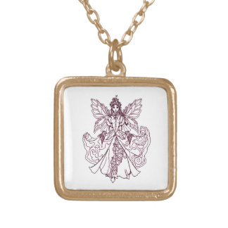 Angel 4 gold plated necklace