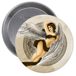 Angel 4 Inch Round Button