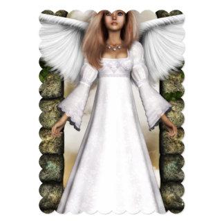 Angel 5x7 Paper Invitation Card