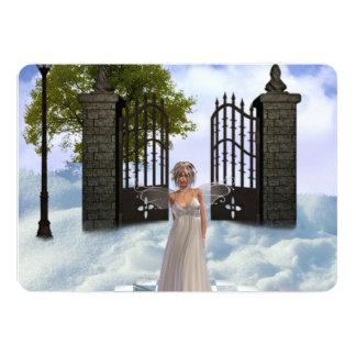 angel-7 5x7 paper invitation card